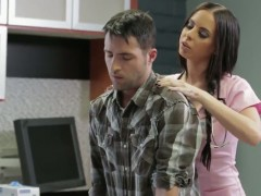 Brandy Aniston giving head in the sperm bank
